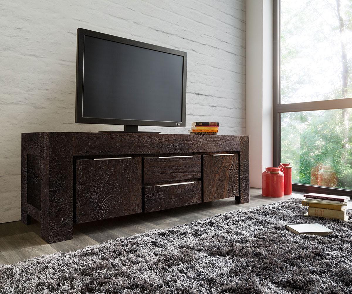 Lowboard und TV-Schrank aus Akazie für Wohnzimmer und Schlafzimmer