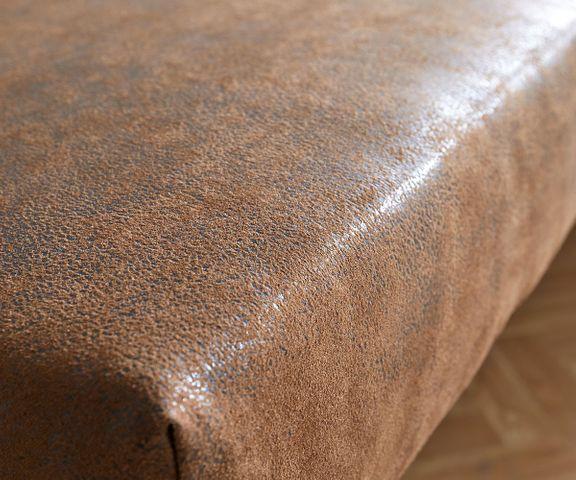 Zitbankje Olav 140x53 cm bruin antiek gestoffeerd 3