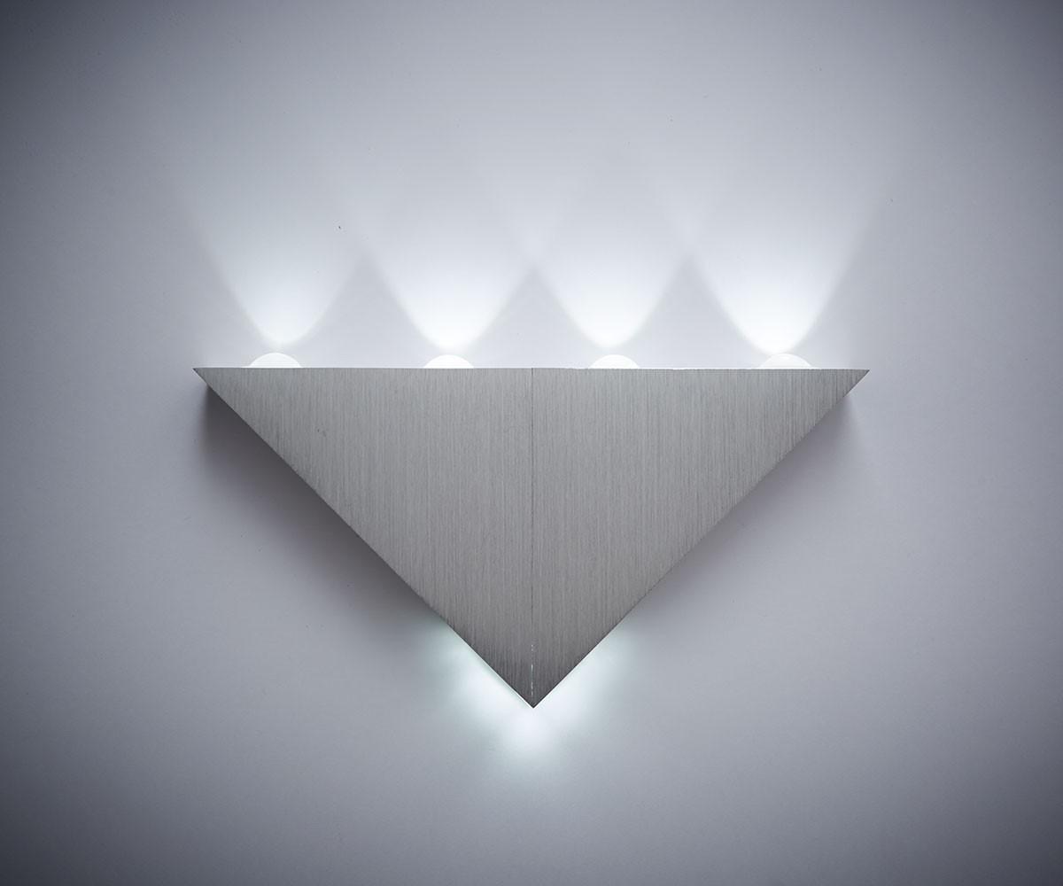 DELIFE LED Wandleuchte Vegg 5 Watt Aluminium Ge...