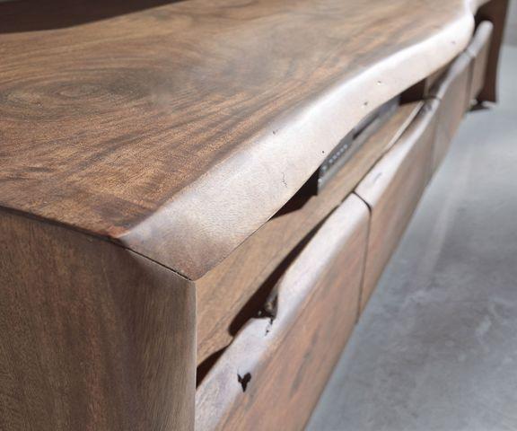 TV-meubel Live-Edge 230 cm acacia massief bruin 4 lades 3