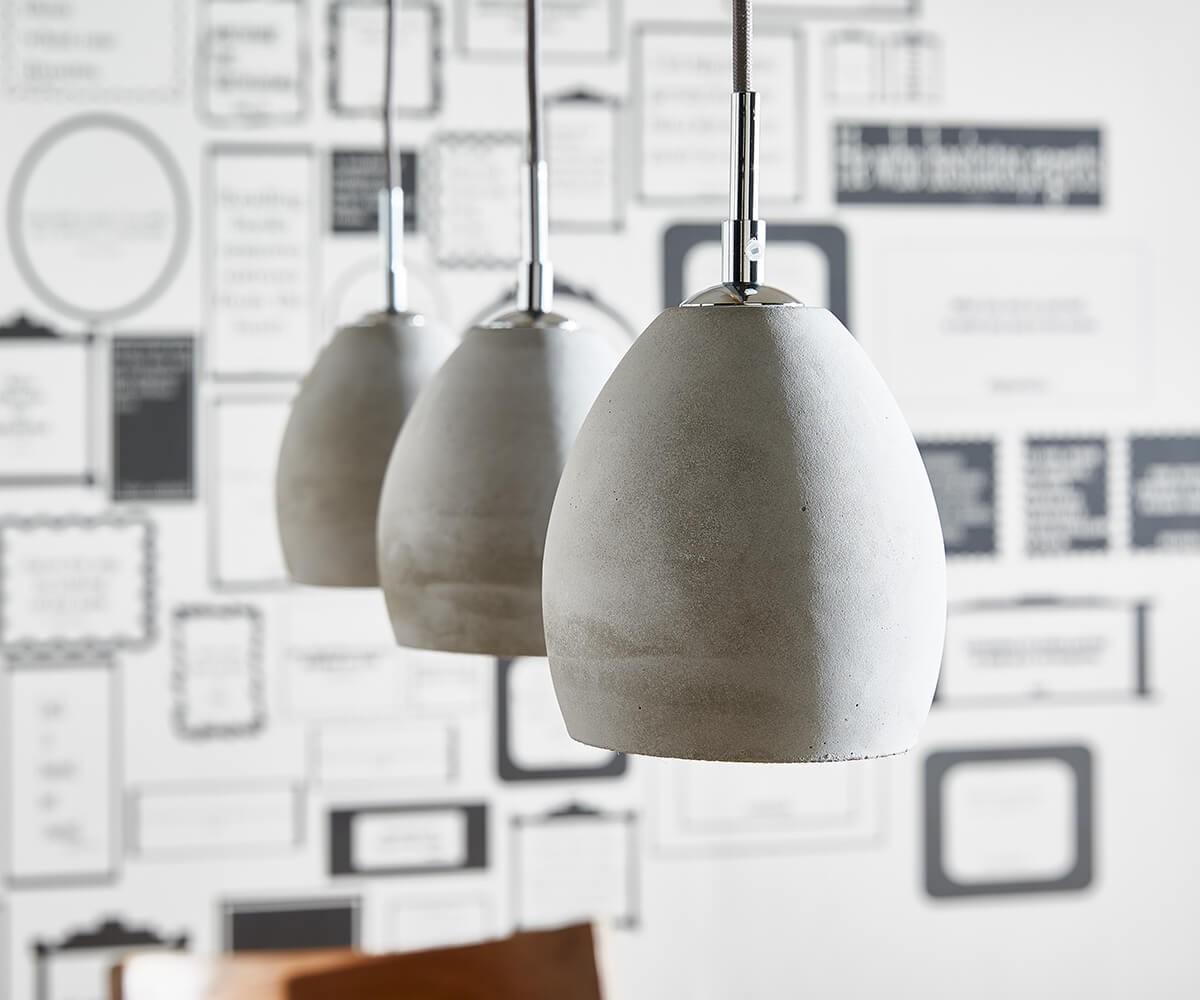 deckenleuchte cirillo grau 70x15 cm 3 schirme beton h ngeleuchte. Black Bedroom Furniture Sets. Home Design Ideas