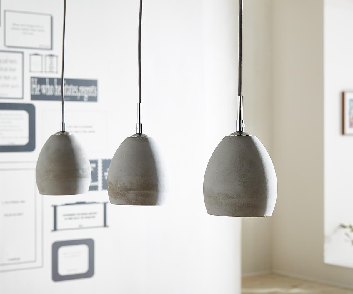Hangeleuchte Cirillo 70x15 Grau 3 Schirme Beton Mobel Leuchten