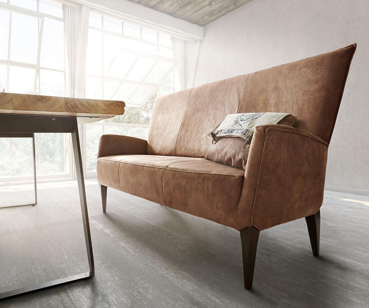 essbank bolero braun 181x69 vintage look mit lehne sitzbank by ultsch polsterm b. Black Bedroom Furniture Sets. Home Design Ideas