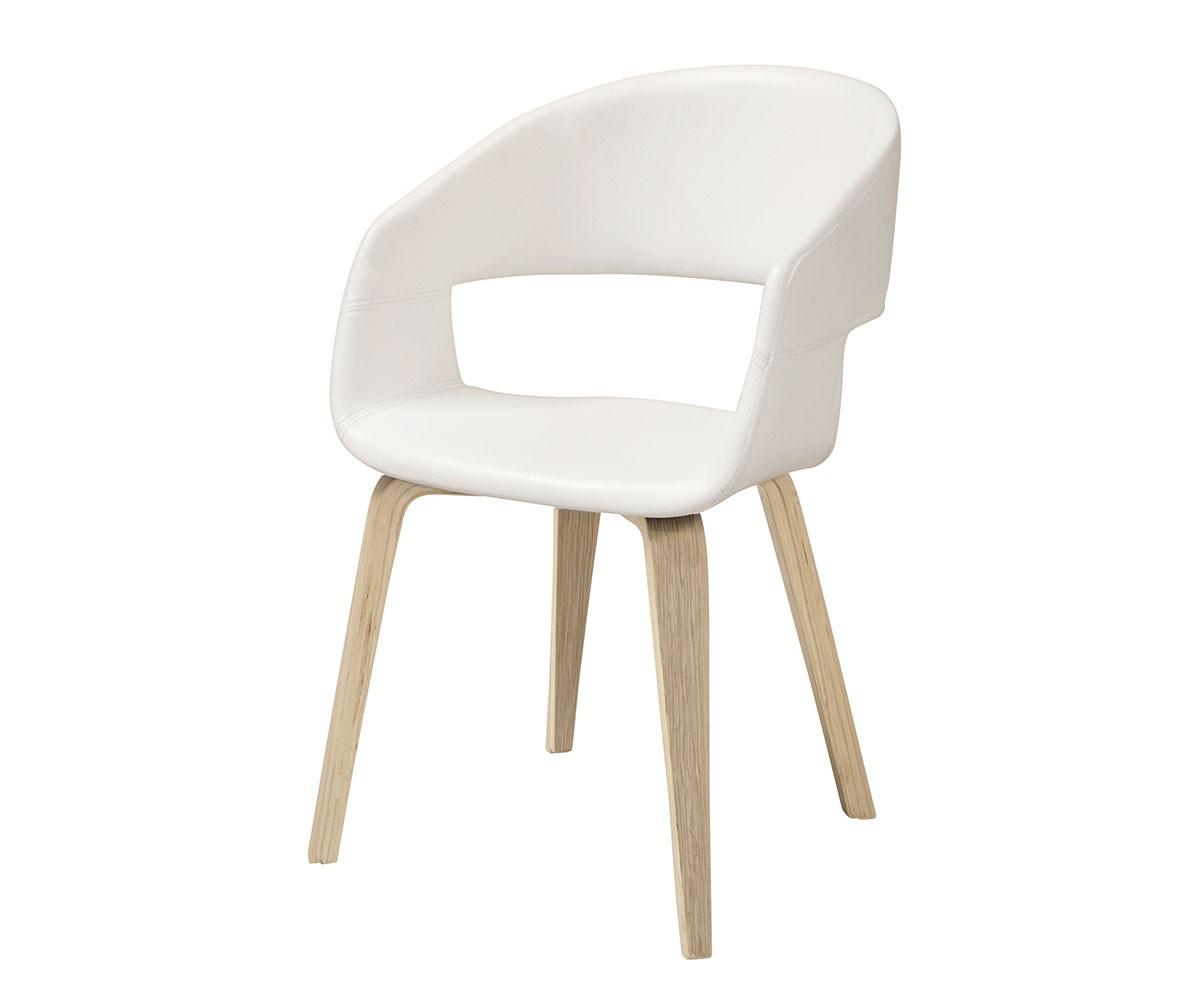 k chenstuhl naile weiss mit armlehne beine natur. Black Bedroom Furniture Sets. Home Design Ideas