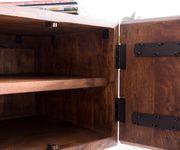 Fernsehtisch Live-Edge Akazie Braun 200 cm 4 Türen 2 Fächer Baumkante Lowboard [11315]