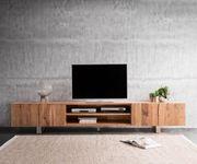 Fernsehtisch Live-Edge Akazie Natur 300 cm 4 Türen 2 Fächer Baumkante Lowboard [11317]
