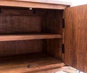 Fernsehtisch Live-Edge Akazie Braun 200 cm 4 Türen 2 Schübe Baumkante Lowboard [11320]