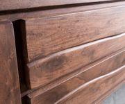 Fernsehtisch Live-Edge Akazie Braun 300 cm 4 Türen 2 Schübe Baumkante Lowboard [11323]