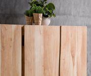 Kommode Live-Edge Akazie Gebleicht 220 cm 6 Türen Massivholz Baumkante Sideboard [11326]