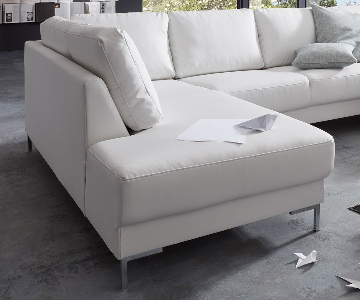 couch silas weiss 300x200 cm ottomane links designer. Black Bedroom Furniture Sets. Home Design Ideas