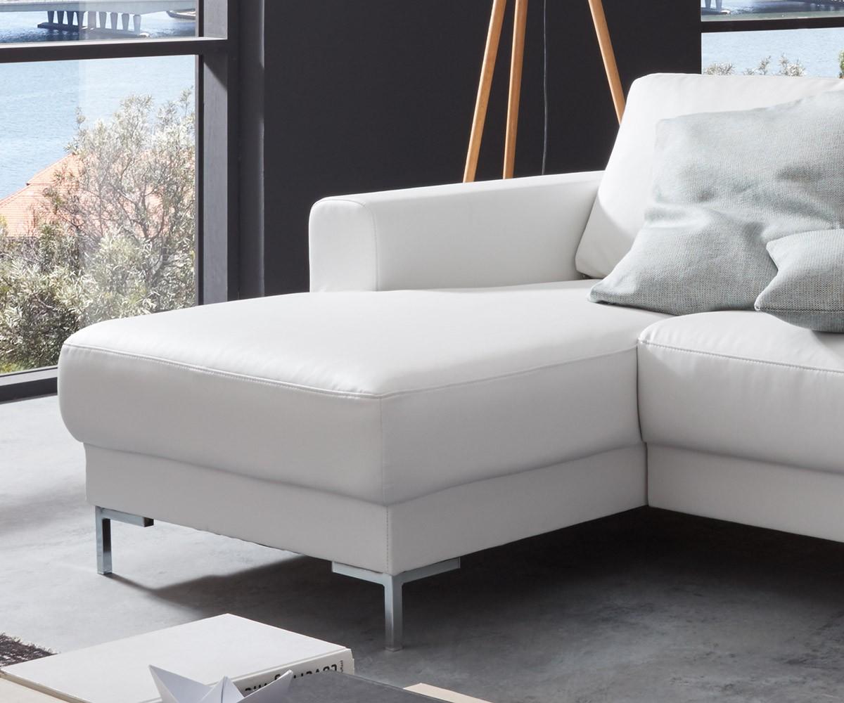 couch silas weiss 300x200 cm ottomane rechts designer. Black Bedroom Furniture Sets. Home Design Ideas