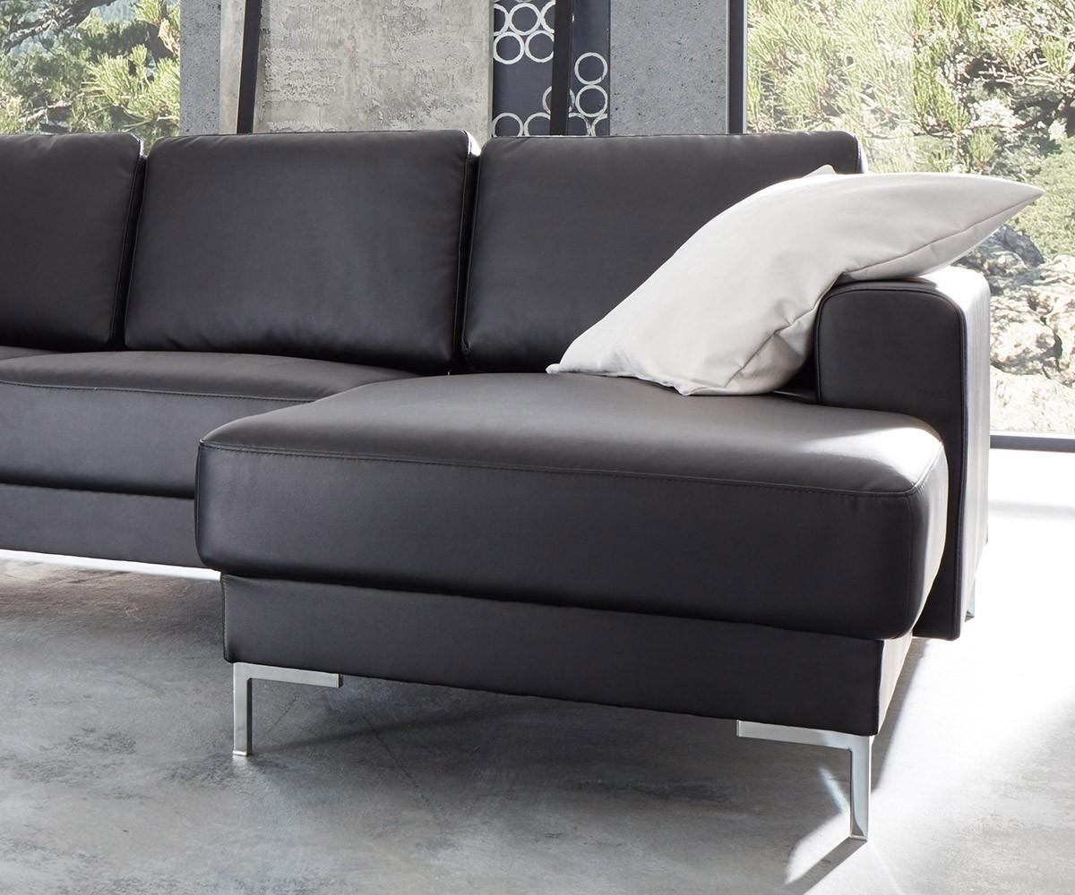 Designer Wohnlandschaft Silas 300x200 Schwarz Ottomane Links Mobel