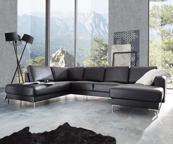 Designer-woonlandschap Silas 300x200 zwart ottomane links 1