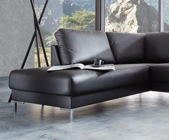 Designer-woonlandschap Silas 300x200 zwart ottomane links 3