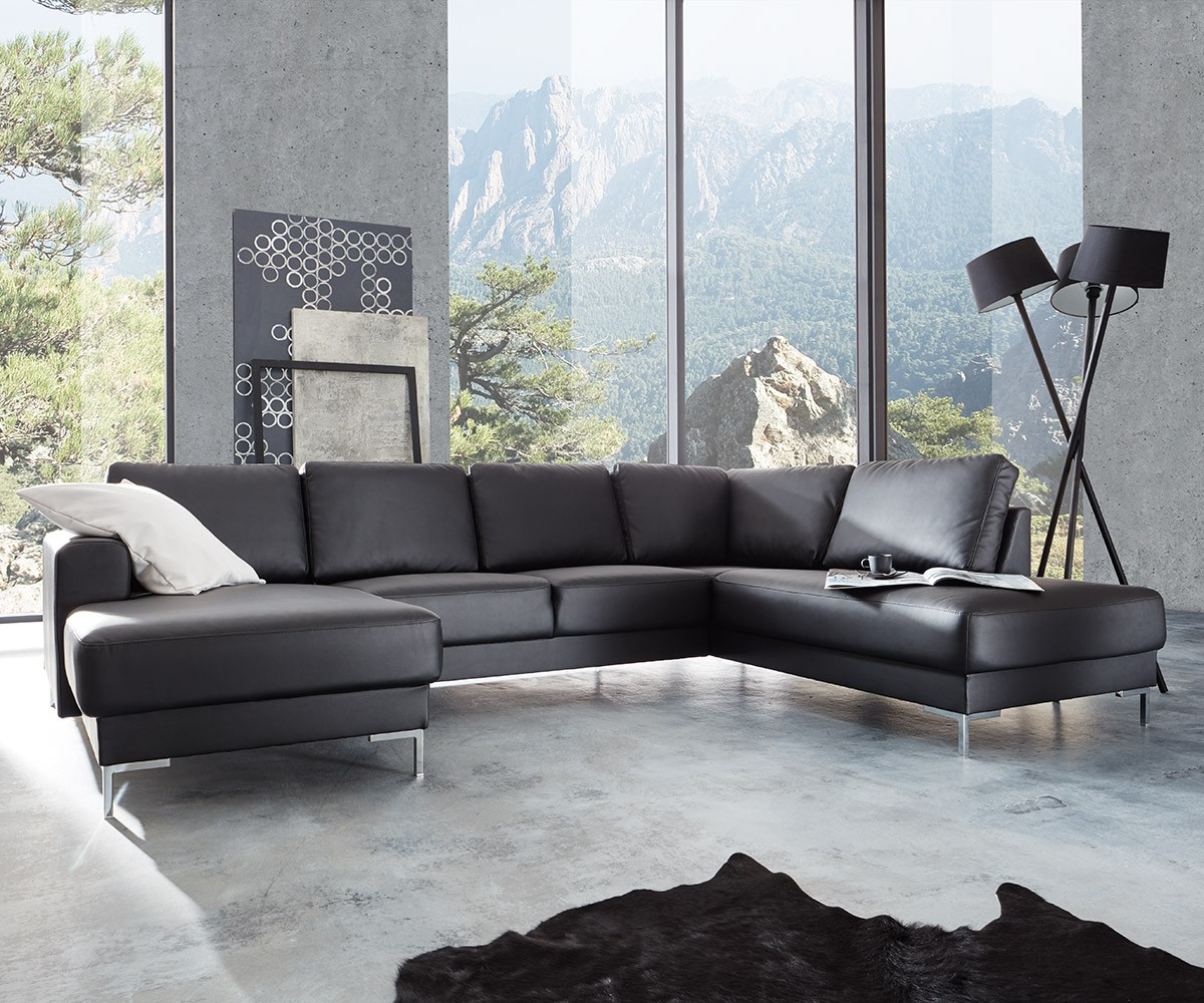 designer wohnlandschaft silas 300x200 schwarz ottomane rechts m bel sofas wohnlandschaften. Black Bedroom Furniture Sets. Home Design Ideas