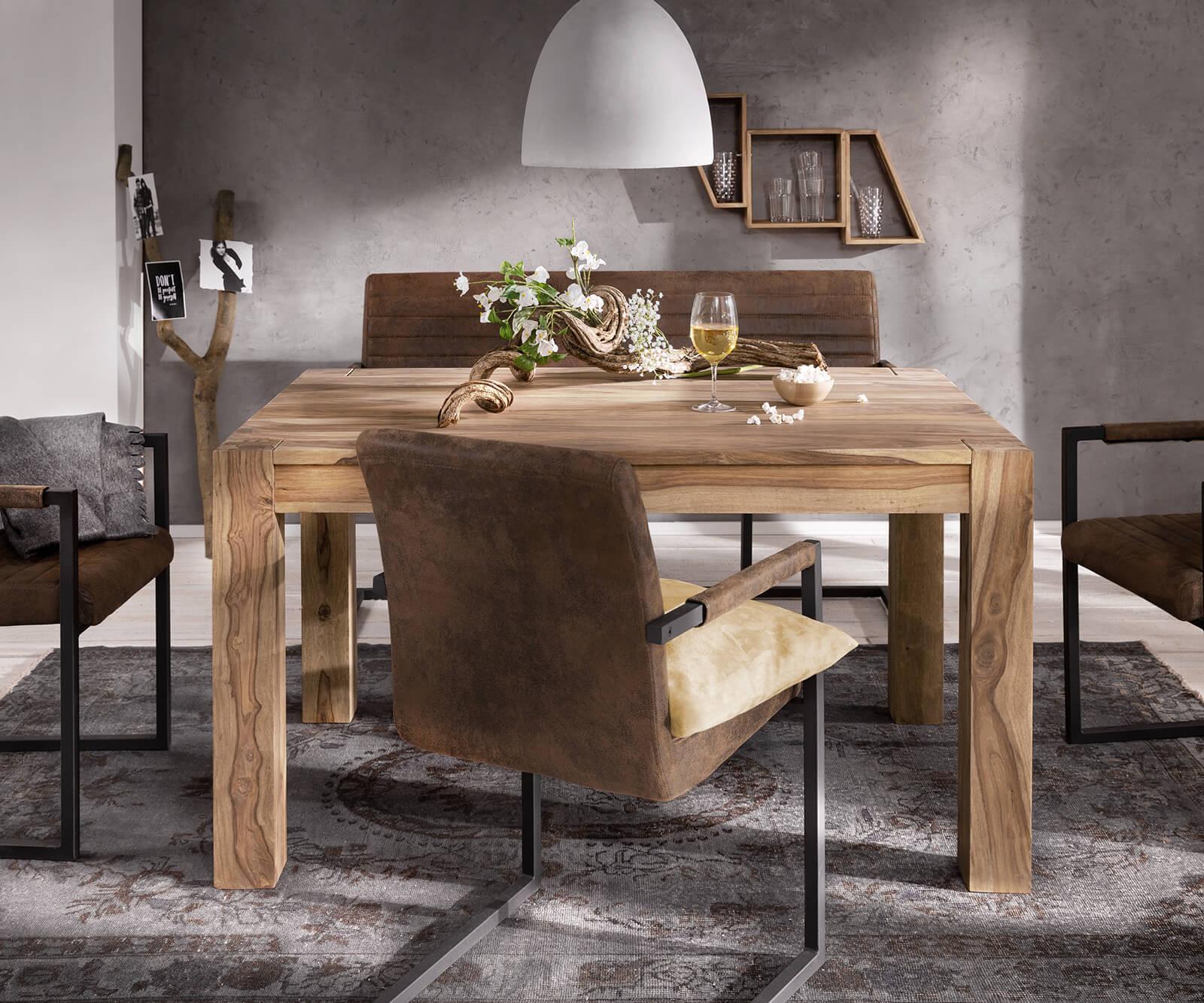 esstisch indra sheesham natur 140 240x90 cm ausziehbar. Black Bedroom Furniture Sets. Home Design Ideas