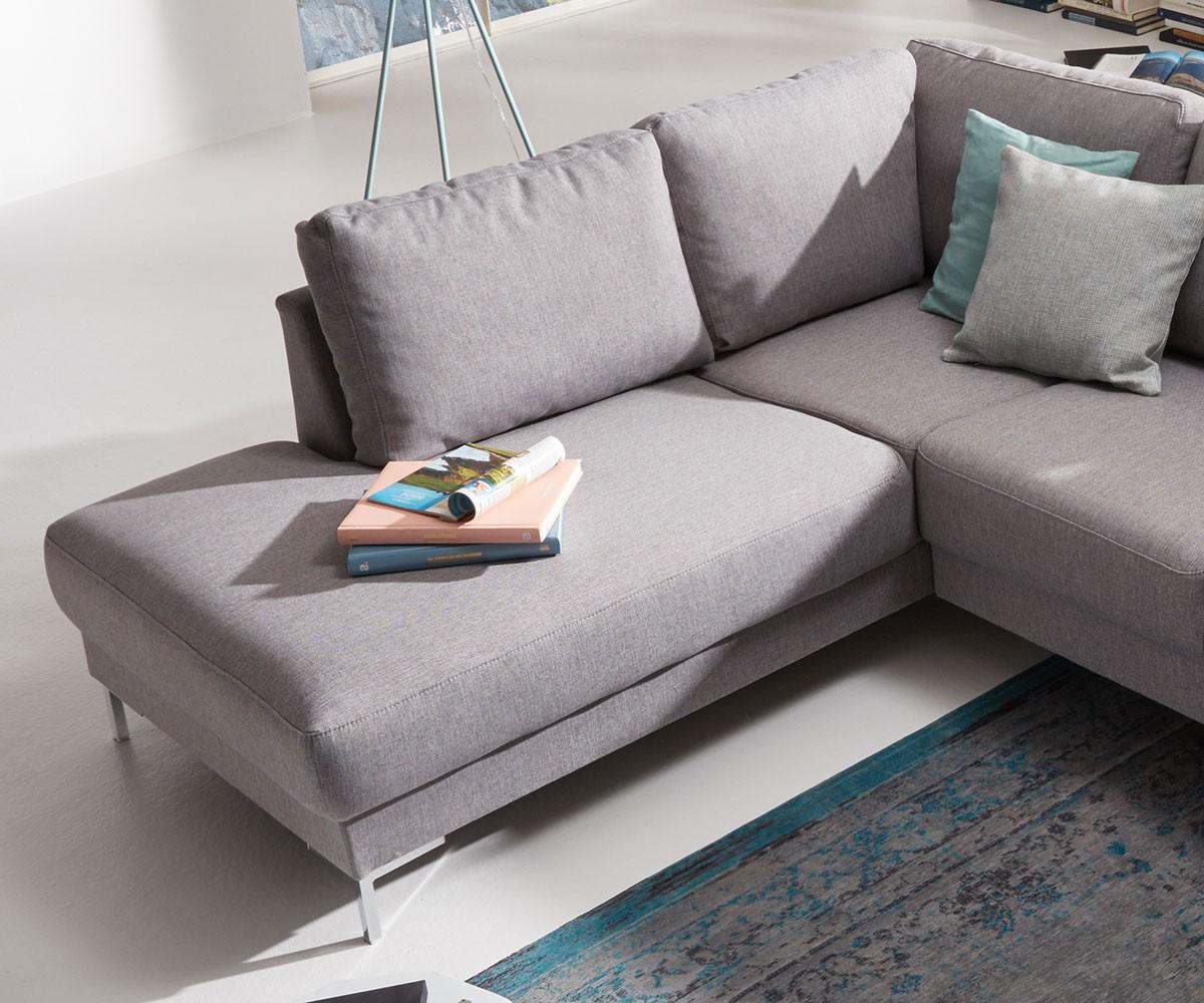 couch silas grau 300x200 cm ottomane links designer wohnlandschaft. Black Bedroom Furniture Sets. Home Design Ideas