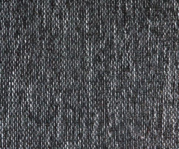 Hoekbank Clovis wit zwart met hocker ottomane links 2