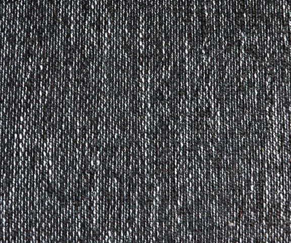 Hoekbank Clovis wit zwart met armleuning en hocker ottomane links 2