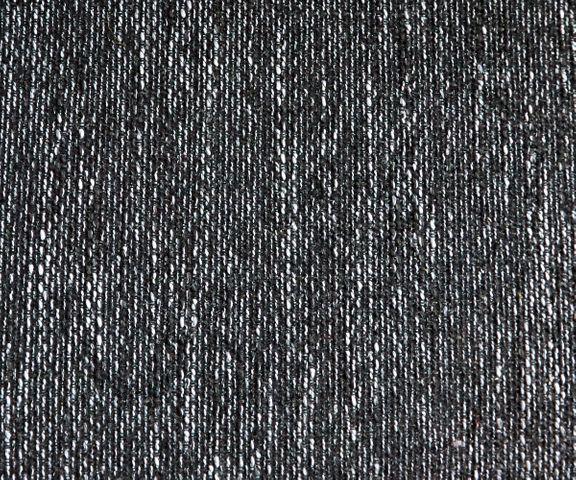 Hoekbank Clovis zwart met hocker ottomane rechts modulair 2