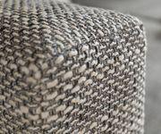 Eckcouch Clovis Hellgrau Strukturstoff mit Hocker und Armlehne Ottomane Links [10800]