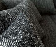 Couch Clovis XL Weiss Schwarz Modulsofa Hocker Armlehne Wohnlandschaft modular [10812]