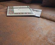 Couch Clovis XL Braun Antik Optik mit Hocker Wohnlandschaft Modules Sofa [10826]