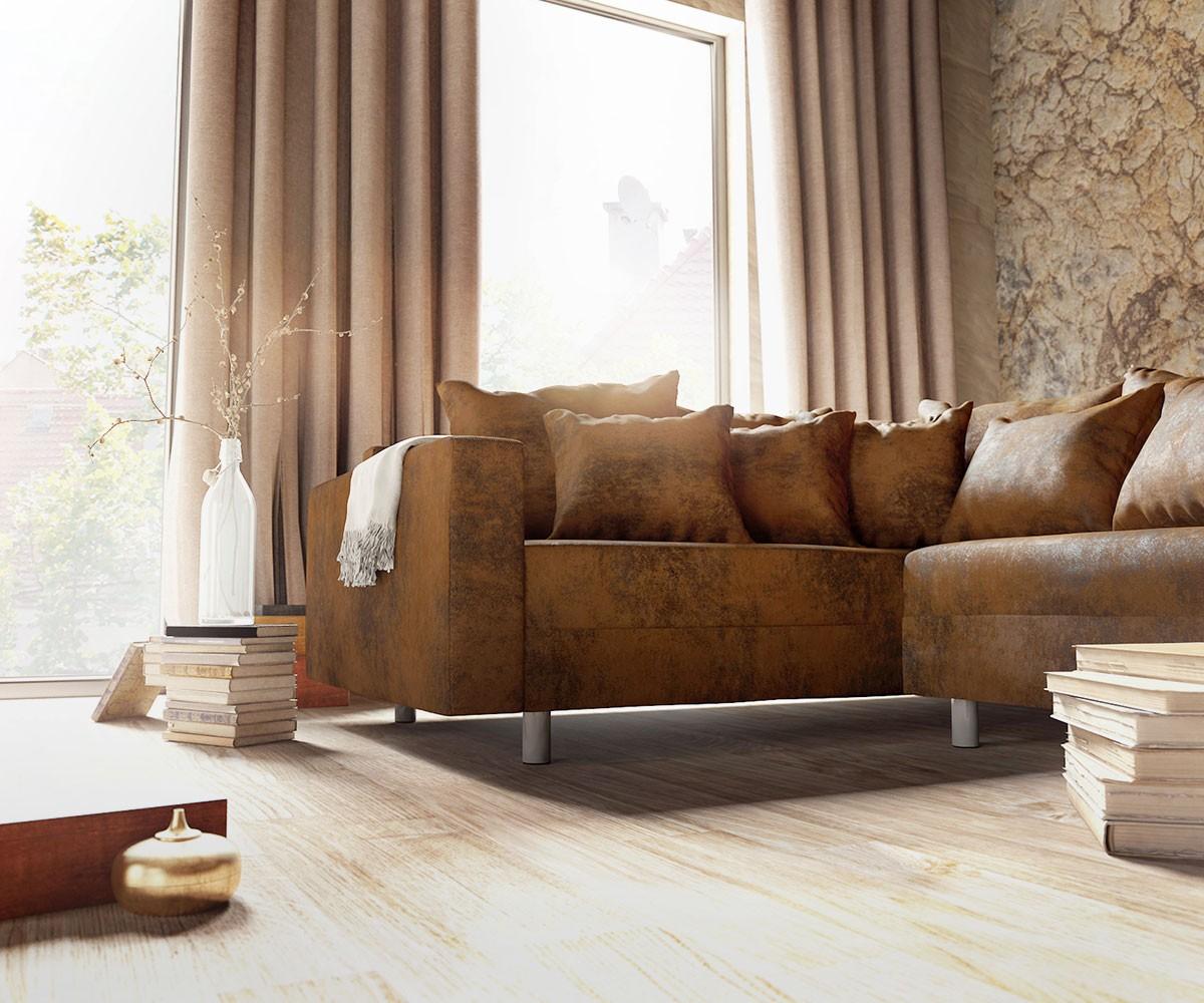 Couch clovis xl braun antik optik hocker armlehne for Wohnlandschaft module