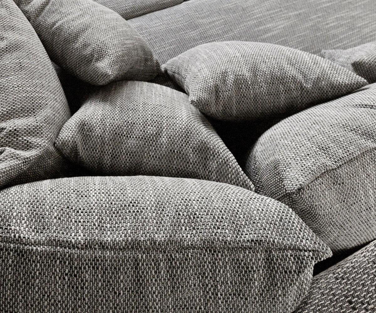Couch Clovis Xl Hellgrau Strukturstoff Mit Armlehne Wohnlandschaft