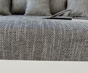 Couch Clovis XL Weiss Hellgrau Modulsofa Hocker Armlehne Wohnlandschaft [10836]