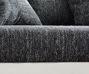Couch Clovis XXL Weiss Schwarz Ottomane Links Wohnlandschaft [10841]