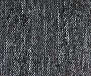 Couch Clovis XXL Weiss Schwarz mit Hocker Ottomane Links Wohnlandschaft [10842]