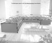 Couch Clovis XXL Schwarz Hocker Armlehne Ottomane Rechts Wohnlandschaft modular [10848]