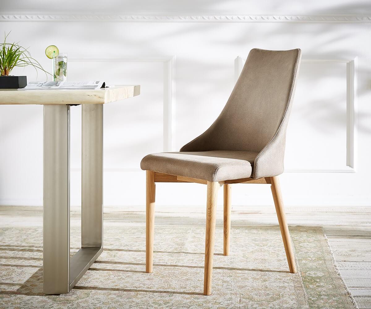 esszimmerstuhl kolonia taupe bequeme polsterung beine. Black Bedroom Furniture Sets. Home Design Ideas