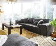 Bigsofa Marbeya Anthrazit 285x115 cm Antik Optik inklusive Hocker Big Sofa [10935]