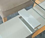 Esszimmertisch Solideon Glas Edelstahl 160/240x100 cm ausziehbar Esstisch [10940]