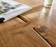 Massivholztisch Live-Edge Akazie Natur 180x100 Platte 5,5 cm Gestell schmal Baumtisch [10946]