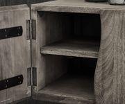 Fernsehtisch Live-Edge Akazie Platin 200 cm 4 Türen 2 Fächer Baumkante Lowboard [11331]