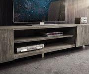 Fernsehtisch Live-Edge Akazie Platin 300 cm 4 Türen 2 Fächer Baumkante Lowboard [11332]
