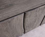 Kommode Live-Edge Akazie Platin 220 cm 6 Türen Massivholz Baumkante Sideboard  [11335]