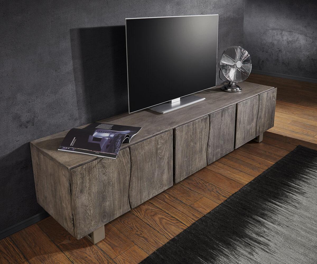 lowboard live edge 220 cm akazie platin massiv 6 t ren m bel tische fernsehtische. Black Bedroom Furniture Sets. Home Design Ideas