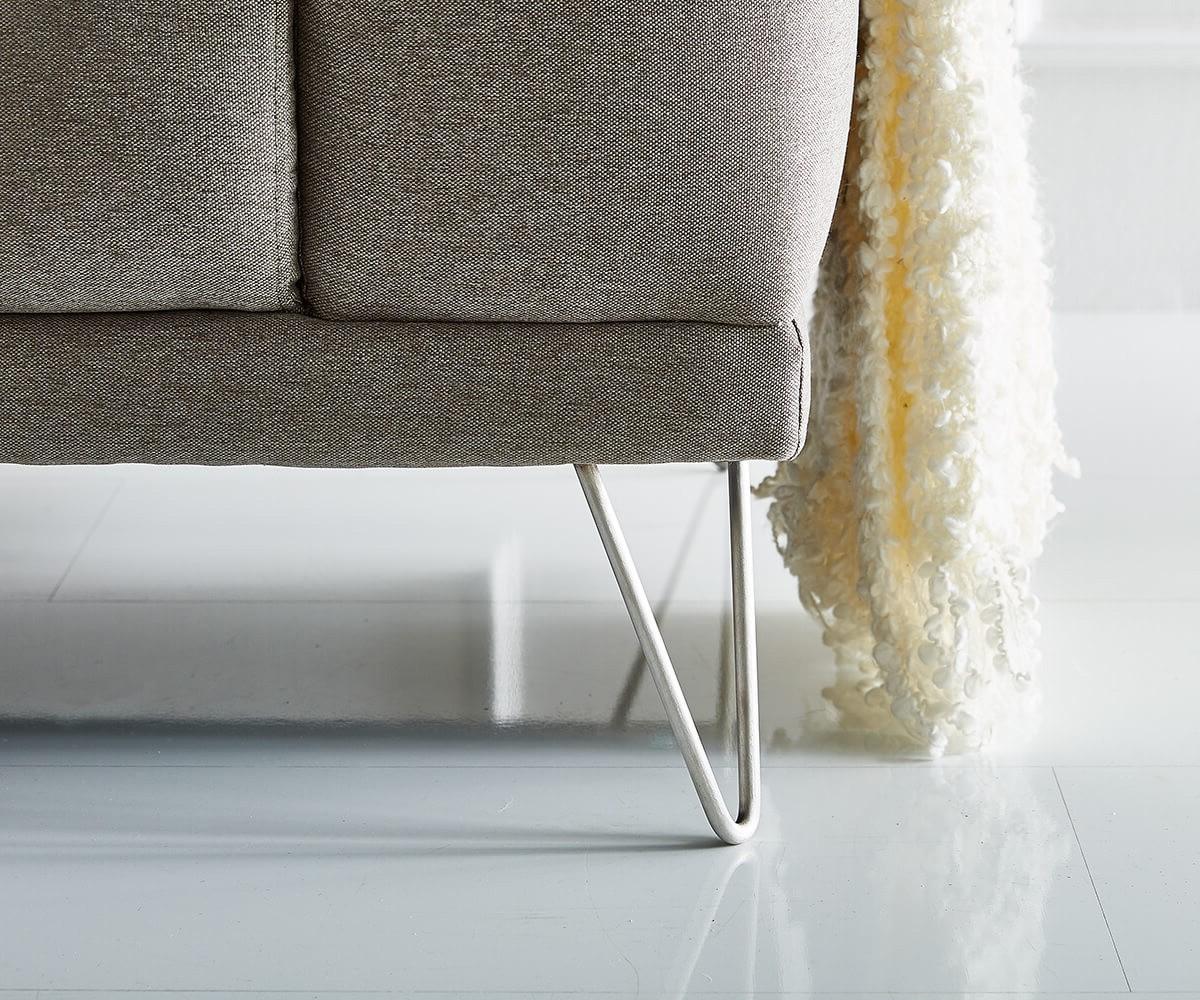 eckcouch lordina grau 260x185 cm bauhausstil ottomane. Black Bedroom Furniture Sets. Home Design Ideas