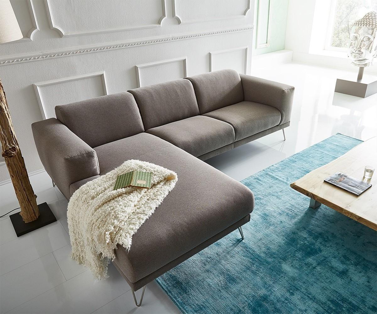 Ecksofa Lordina 260x185 Grau Ottomane Links Premium