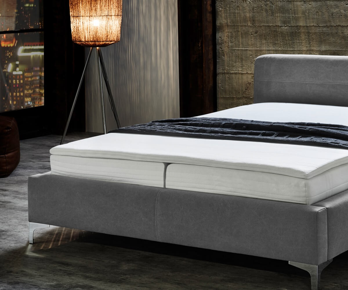 boxspringbett magdalina 180x200 cm grau vintage topper m bel betten boxspringbetten. Black Bedroom Furniture Sets. Home Design Ideas