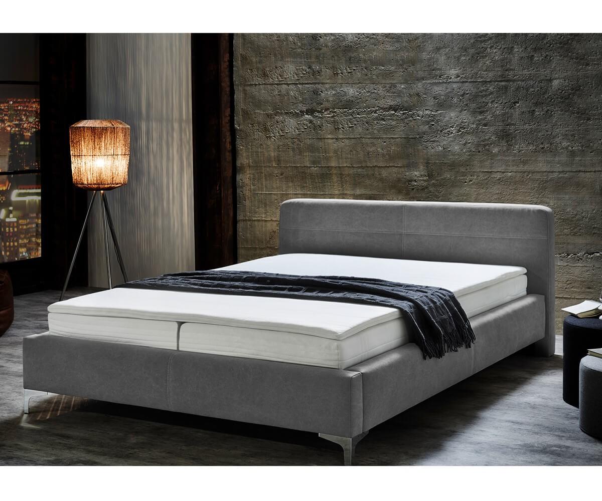 Bett magdalina grau 180x200 cm vintage inklusive topper for Bett grau 180x200