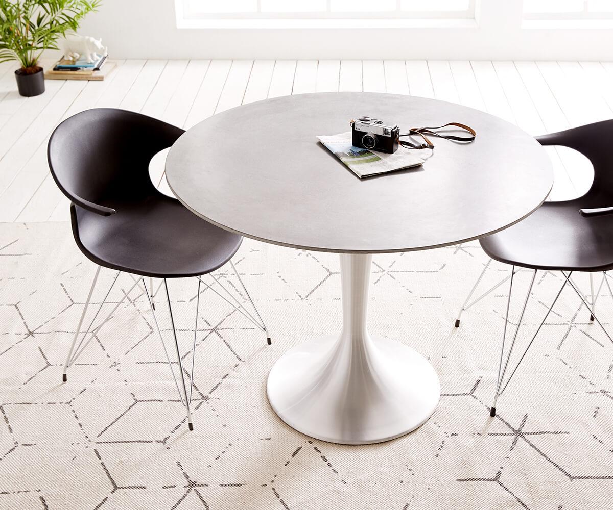 Esstisch Charo 100x100 Grau rund Beton Gestell Aluminium Möbel ...