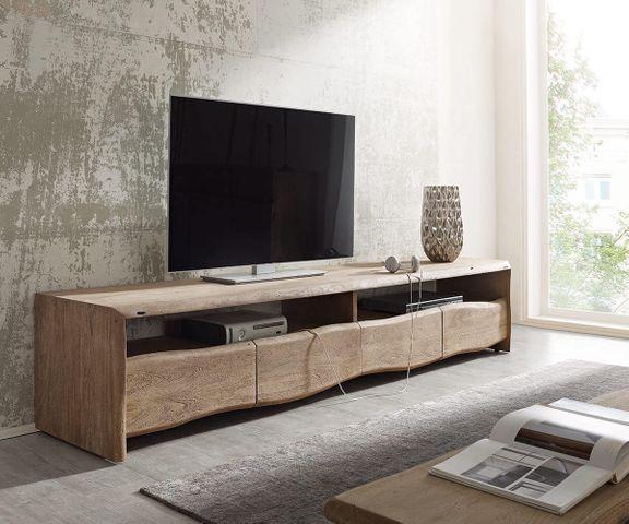 TV-meubel Live-Edge 190 cm acacia champagne 4 laden 2 vakken 1