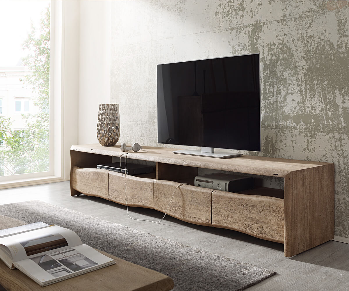 lowboard live edge 230 cm akazie champagner 4 sch be m bel. Black Bedroom Furniture Sets. Home Design Ideas