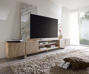 Fernsehtisch Live-Edge Akazie Champagner 300 cm 4 Türen 2 Fächer Lowboard [11340]