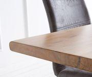 Massivholztisch Live-Edge Akazie Natur 300x100 Platte 3,5 cm Gestell schmal Baumtisch [11249]